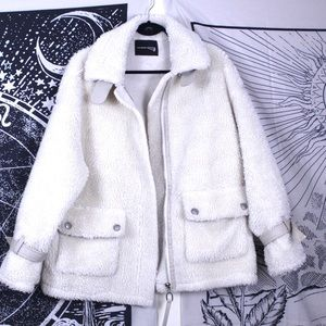 Jackets & Blazers - Off white teddy bear coat